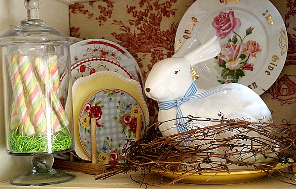 white bunny Easter decoration