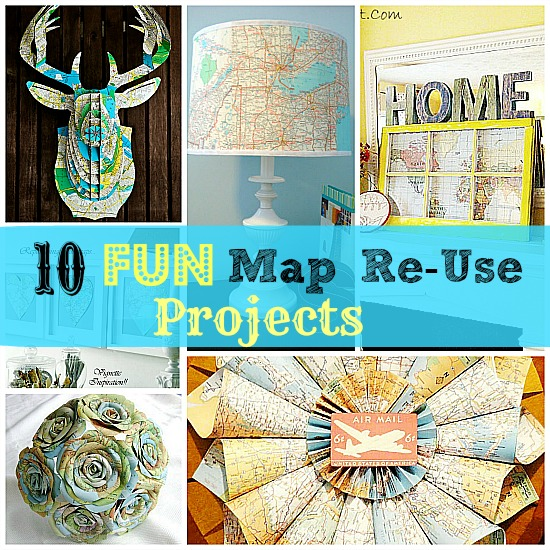 10 ways to reuse old maps