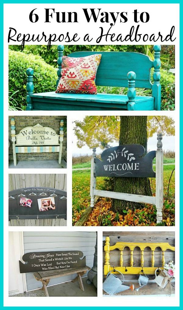 a round up of 6 fun ways to repurpose a headboard