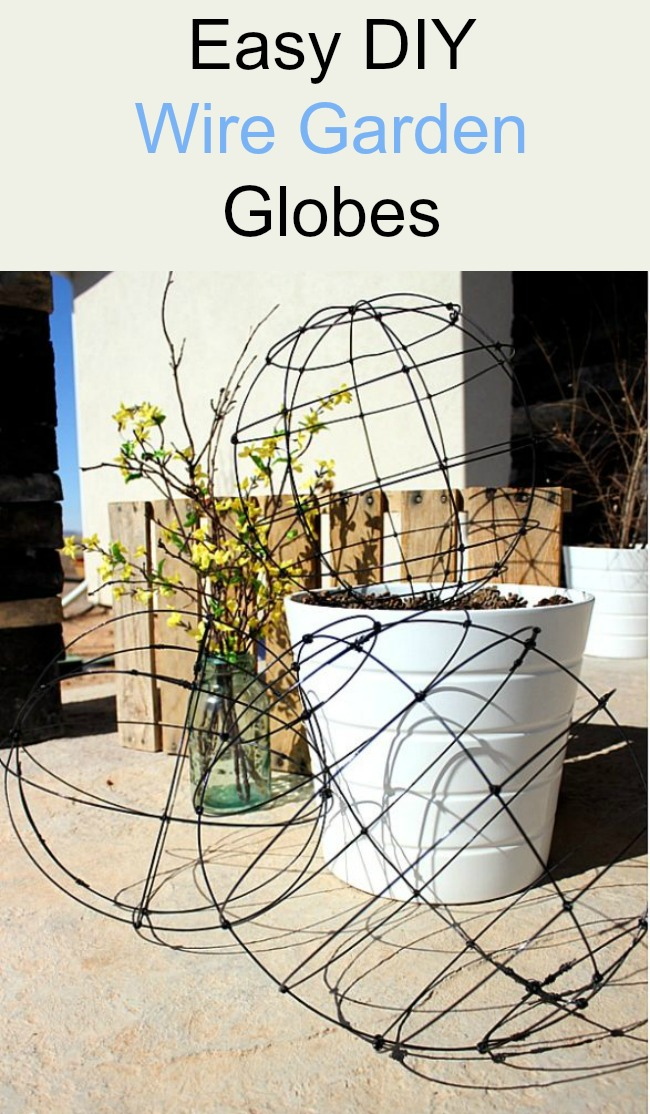 Here's a really great project for your garden! If you've ever priced wire garden orbes you'll be so happy to find that you can make your own garden globe at a very reasonable price. You could also use these to make a globe topiary (for inside or out)!