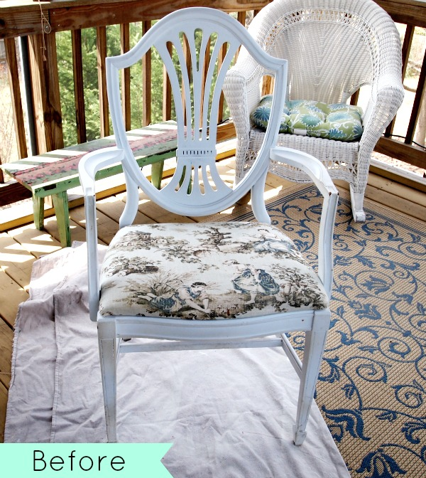French toile chair