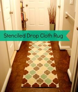 DIY Saturday: Make A Drop Cloth Rug