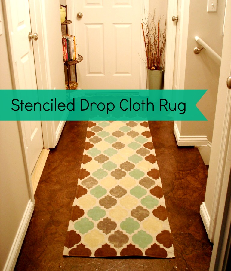 how to make a drop cloth rug