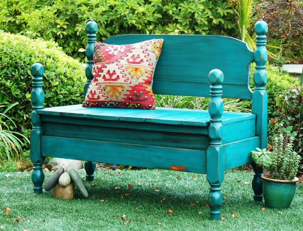 bed made into a bench