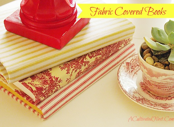DIY fabric covered books