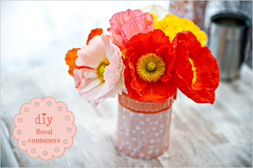 floral container covers