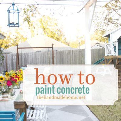 how to paint a concrete slab patio