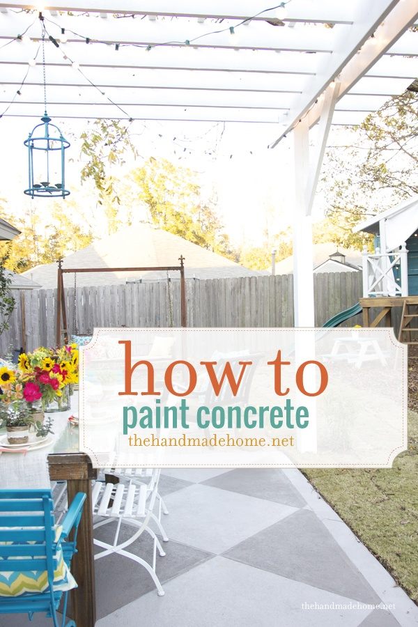 Incroyable How To Paint A Concrete Slab Patio