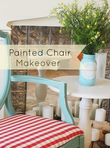 A Little Painted Chair Makeover