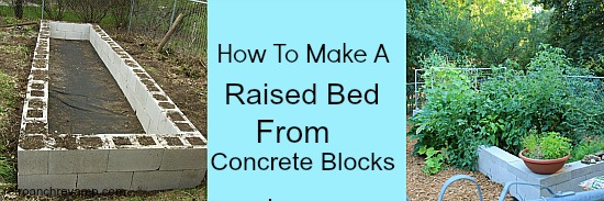 how to make raised beds from cinder blocks