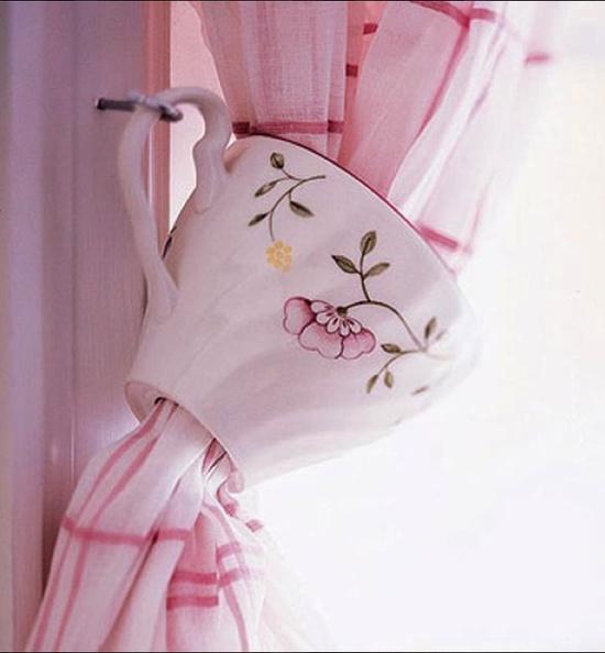tea cup tie back