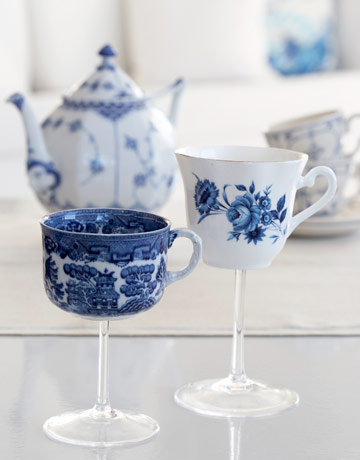 tea cup wine glasses