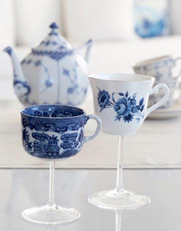 tea cup wine glasses
