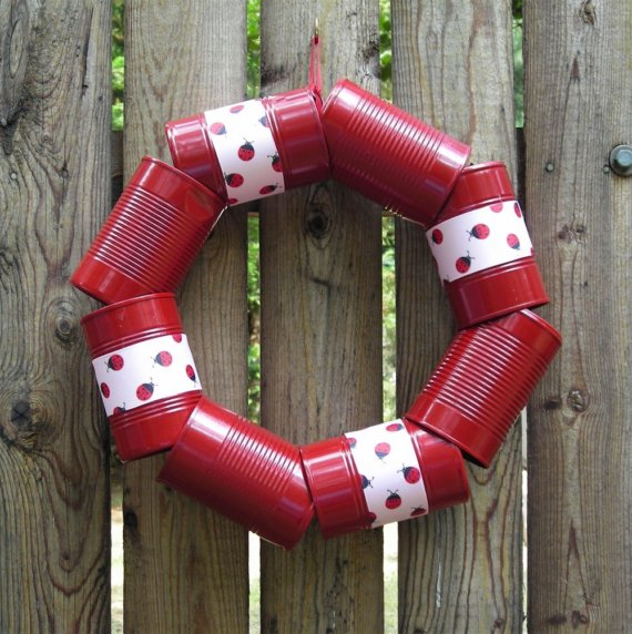 tin can wreath