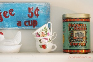 Decorating With Coffee Tins In My Kitchen – New & Vintage
