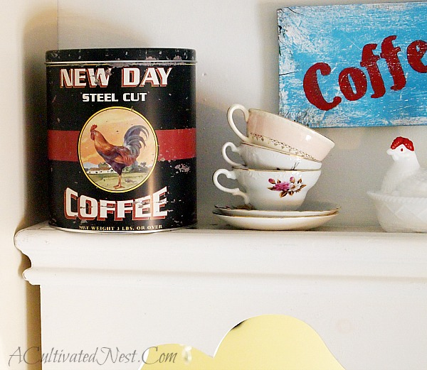 vintage looking coffee tin from TJMaxx
