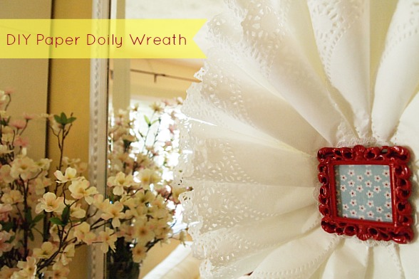 DIY Craft Paper Doily Wreath
