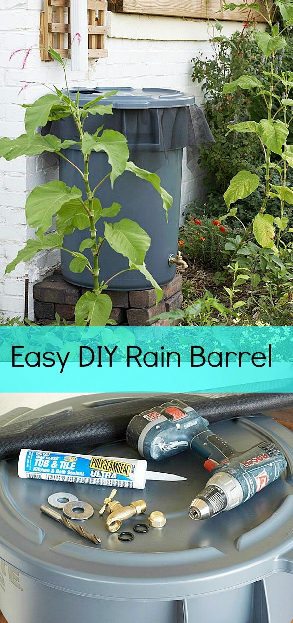 Diy saturday how to make a rain barrel a cultivated nest for Diy small rain barrel