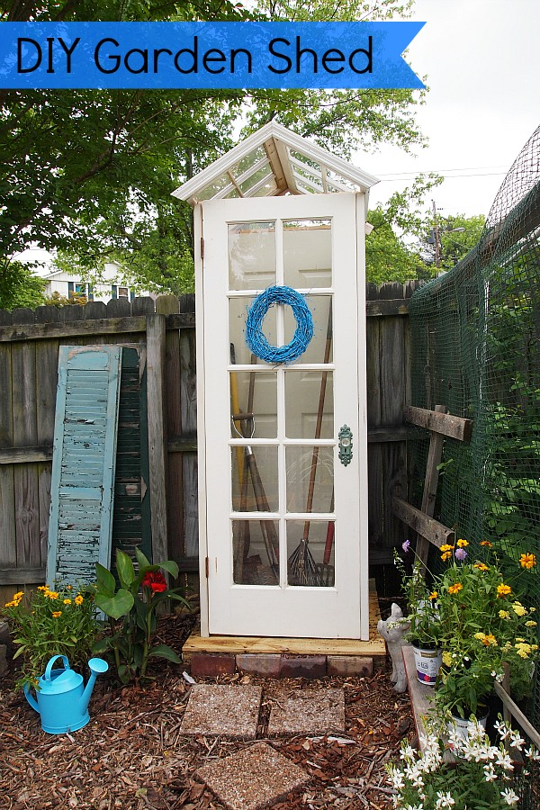 10 Creative Upcycled Door DIY Projects- Garden Shed