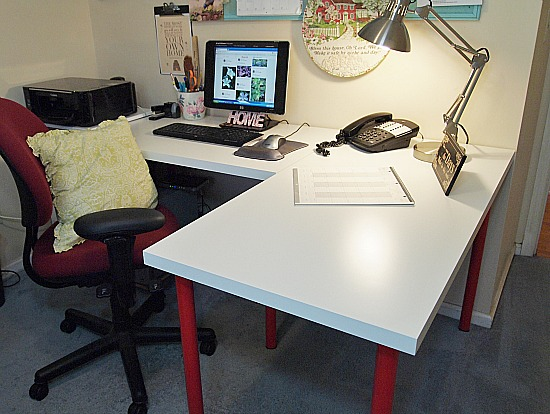 L-shaped Ikea desk