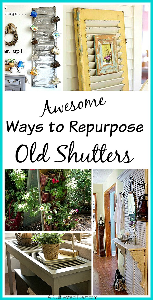 Awesome Ways To Repurpose Old Shutters