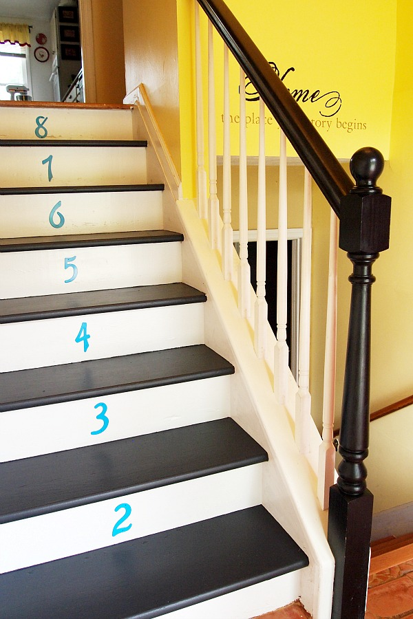 My Painted Stair Makeover A Cultivated Nest How To Paint Stairs Black