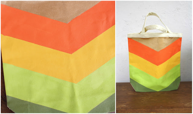 diy chevron tote bag