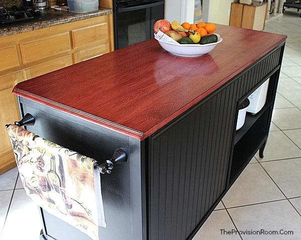 diy upcycled kitchen island