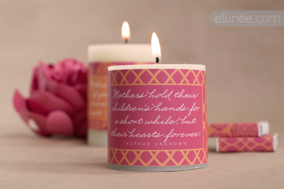mother's day candle wraps