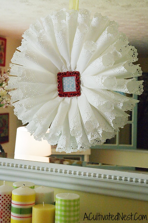 paper doily wreath from A Cultivated Nest