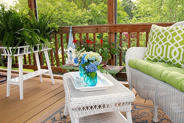 decorating with plants on the porch
