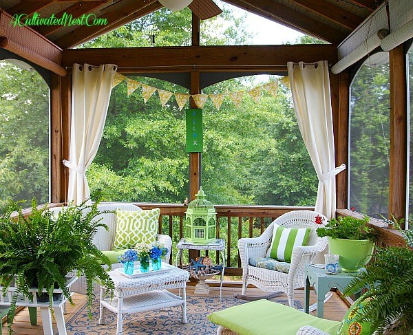 Join me in the screened porch a cultivated nest for Screened in porch ideas design