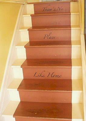 painted riser on stairs