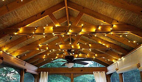 Screen Porch Lighting Ideas Screened Porch Makeover Add lights