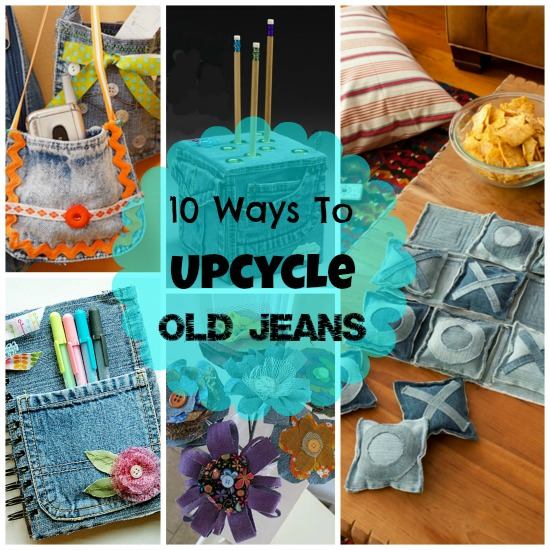 Ideas for repurposing old jeans for Jeans upcycling ideas