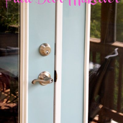 A Cultivated Nest patio door makeover with paint