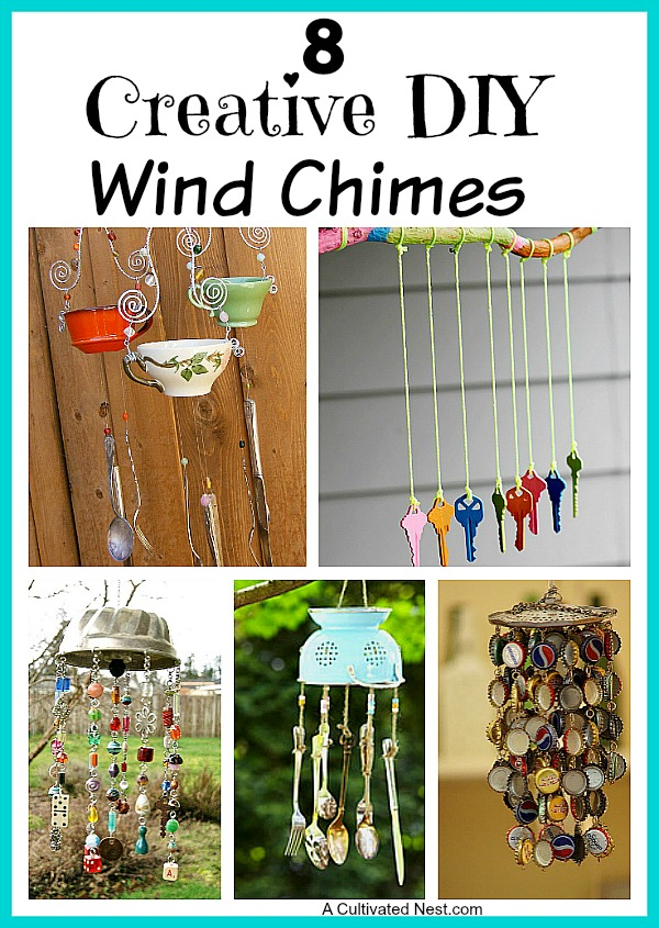 Creative DIY Wind Chime Ideas. There's nothing like listening to the soft tinkle of wind chimes on a breezy day! You can buy all kinds of wind chimes but it's fun to make your own.