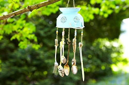 DIY silverware wind chime
