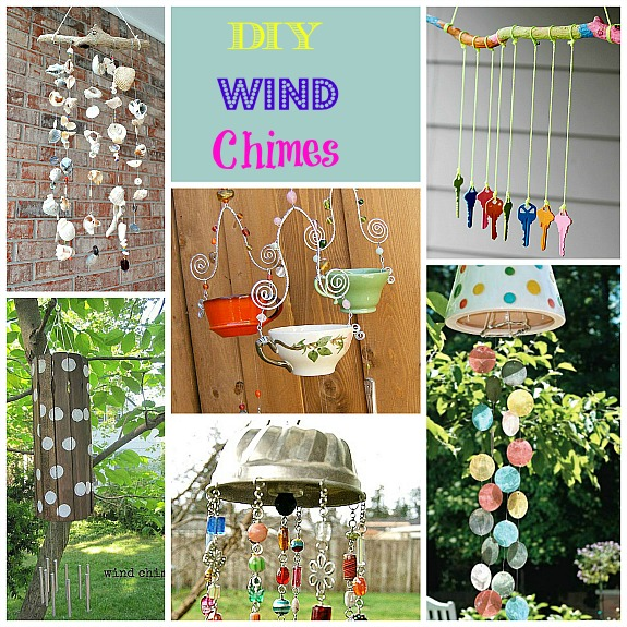 Fun collection of  creative DIY wind chimes.