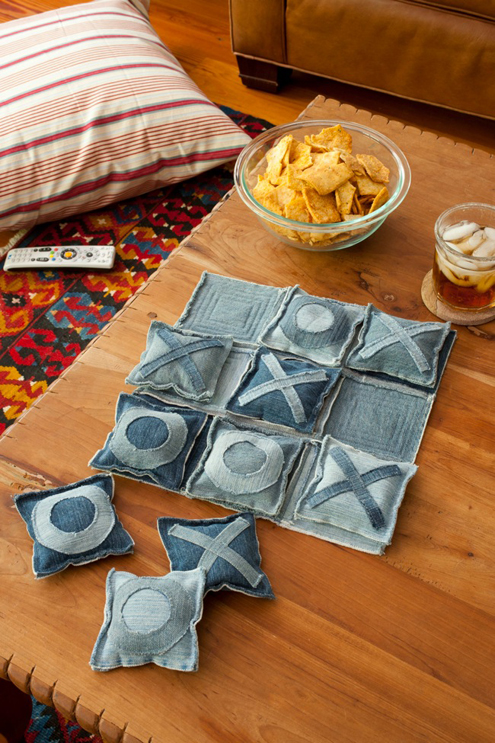 Upcycle Old Jeans into a Tic Tac Toe Game