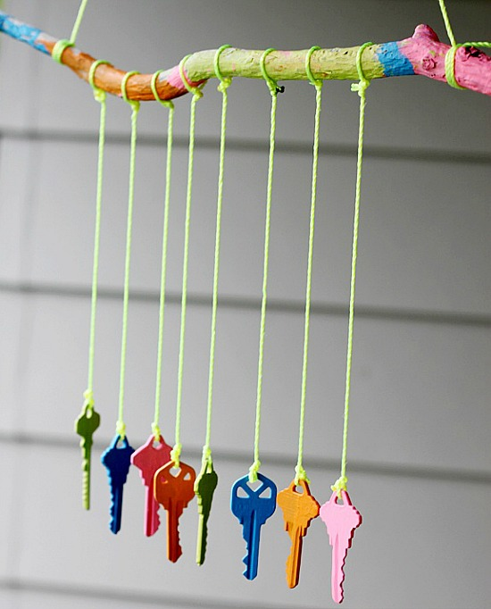 DIY key wind chime