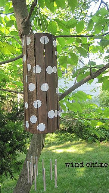 DIY paint stick wind chime