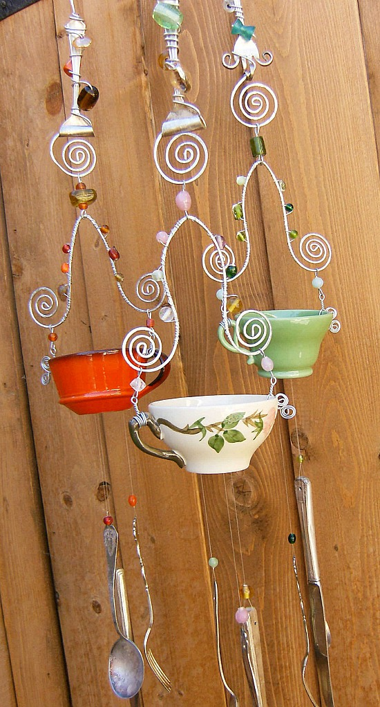 diy tea cup wind chimes