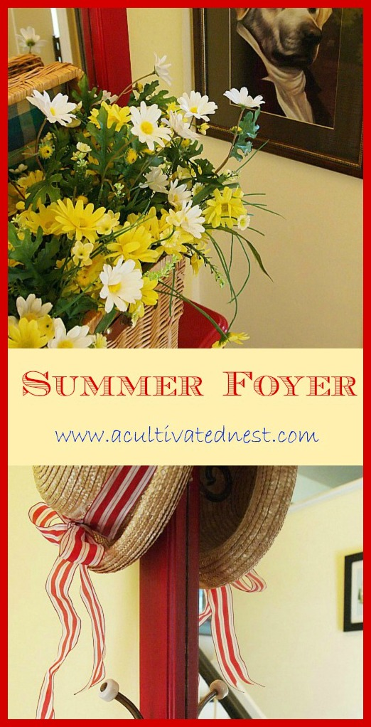 A Cultivated Nest foyer decorated for summer