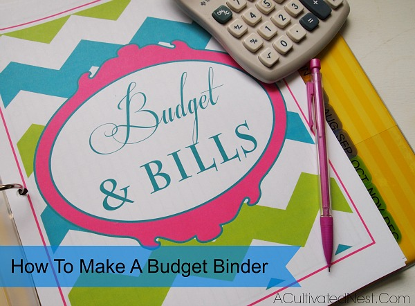 photo relating to Free Printable Home Organizer Notebook known as How in direction of Create A Price range Binder