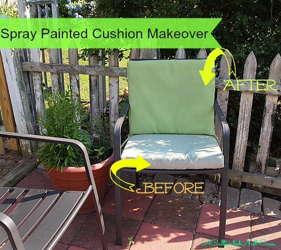 Spray Painted Cushions