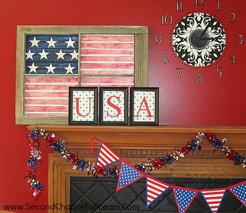 paint wainscotting like US Flag {Featured On}
