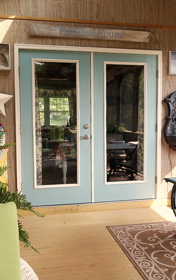 A Cutlivated Nest: Painted Patio Doors