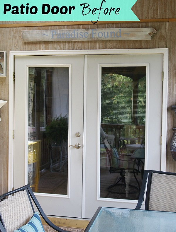 patio door before painting