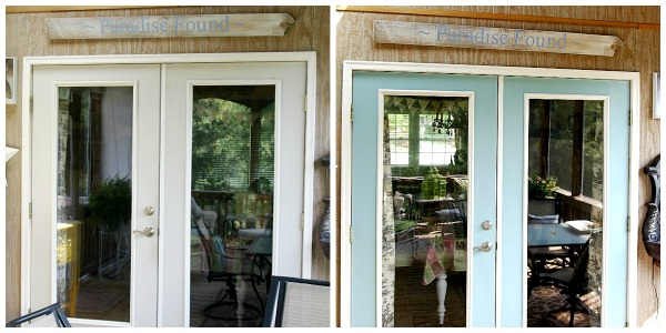 patio door makeover with paint - Outside Patio Doors